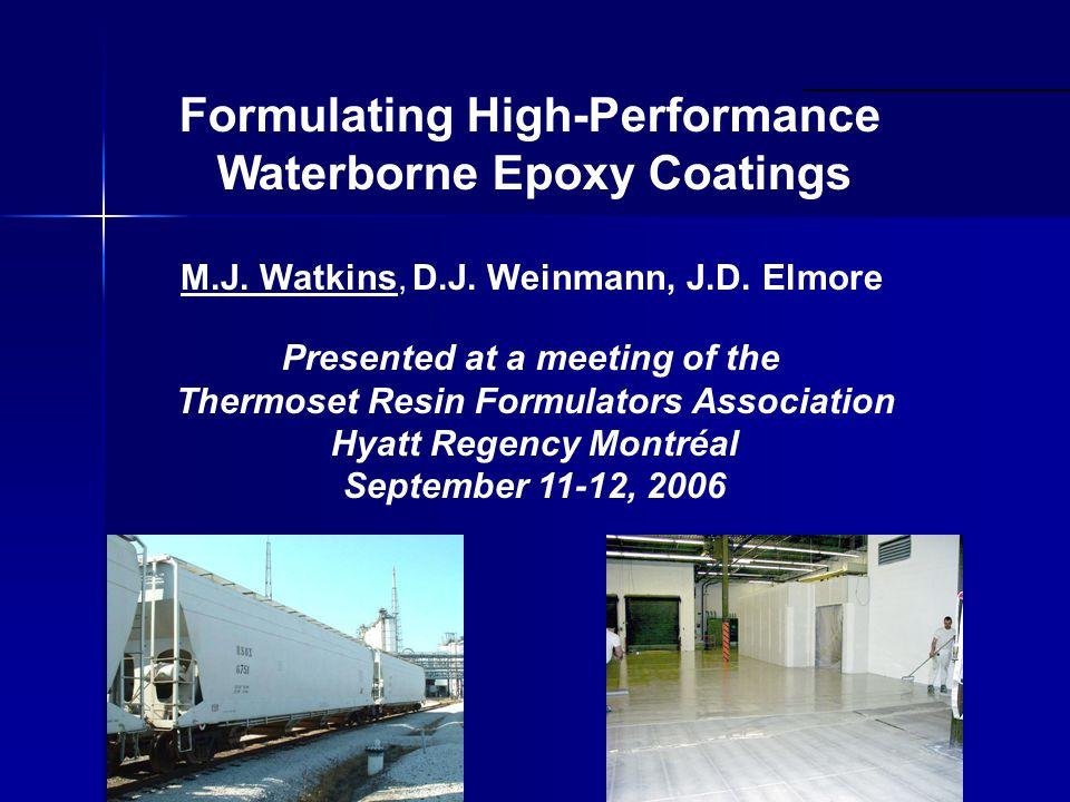 Formulating High-Performance Waterborne Epoxy Coatings