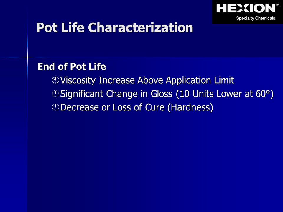 Pot Life Characterization