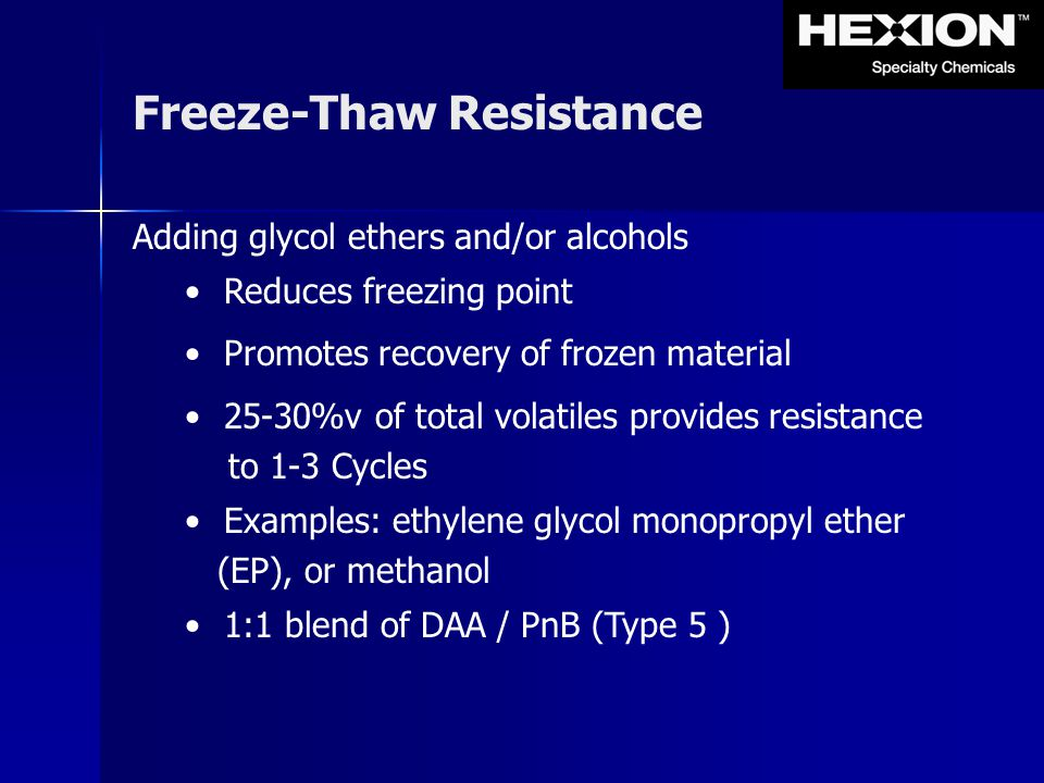 Freeze-Thaw Resistance