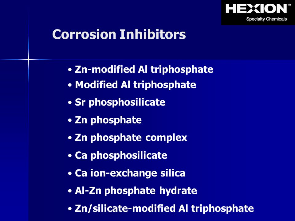 Corrosion Inhibitors Zn-modified Al triphosphate