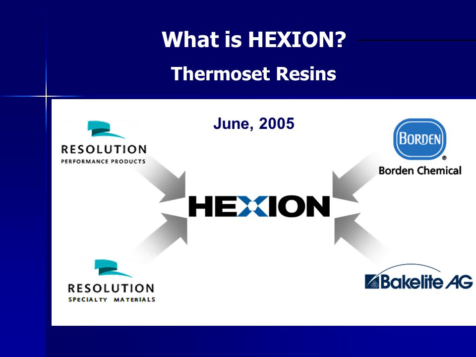 What is HEXION Thermoset Resins June, 2005