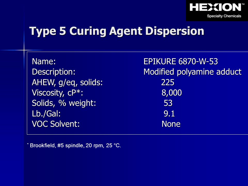 Type 5 Curing Agent Dispersion