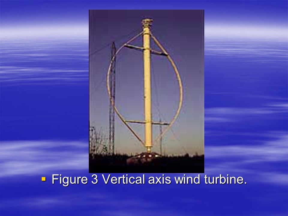 Figure 3 Vertical axis wind turbine.