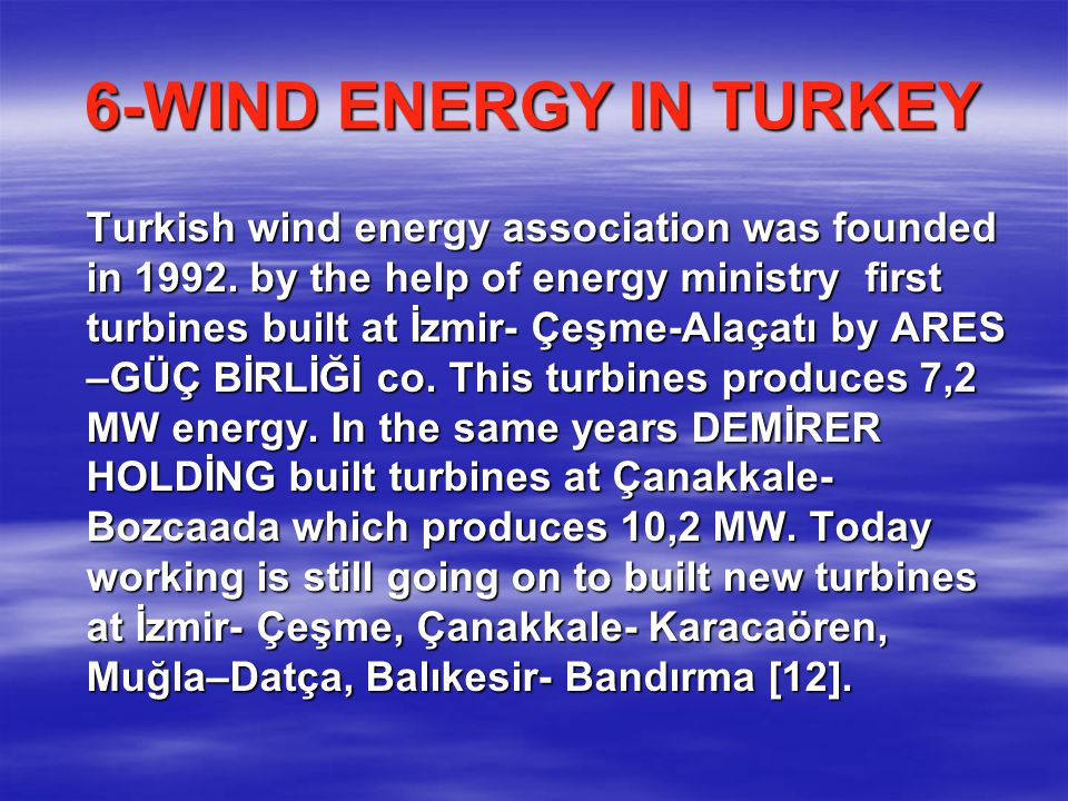 6-WIND ENERGY IN TURKEY