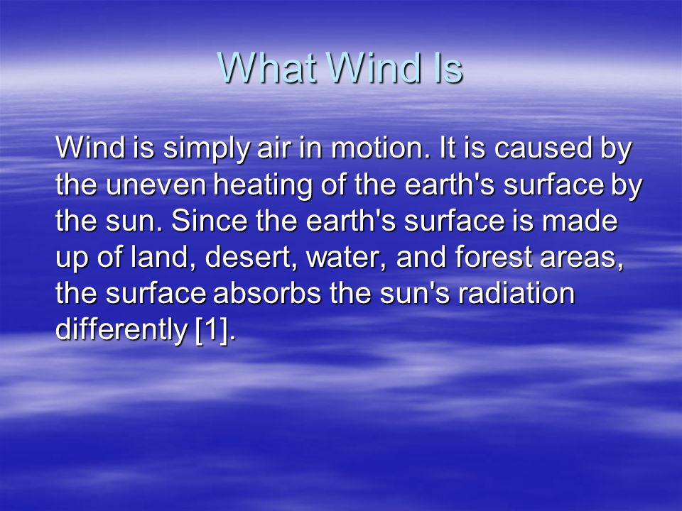 What Wind Is