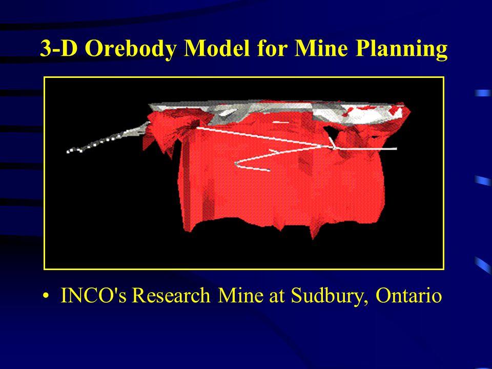 3-D Orebody Model for Mine Planning
