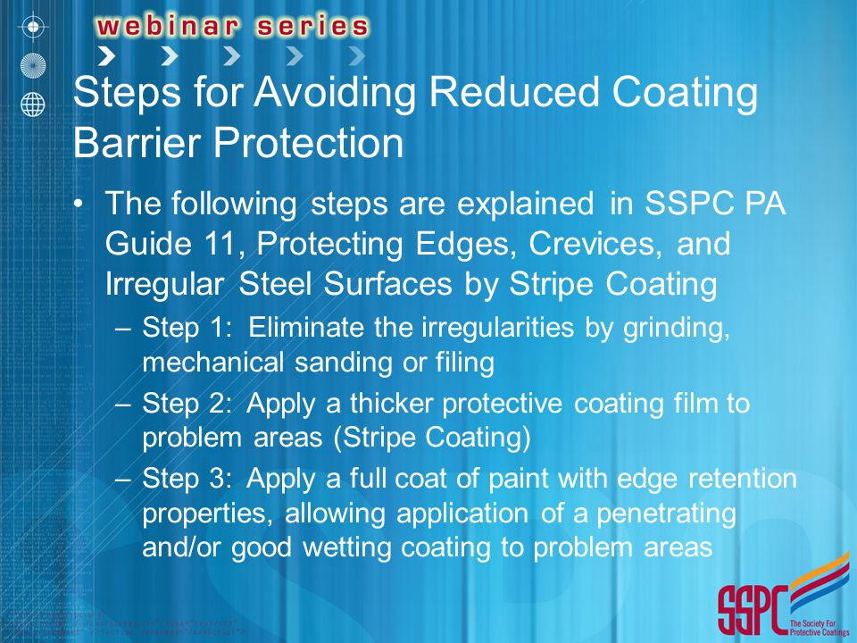 Steps for Avoiding Reduced Coating Barrier Protection