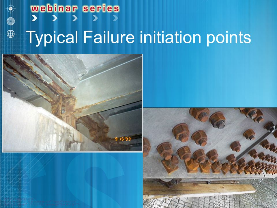 Typical Failure initiation points