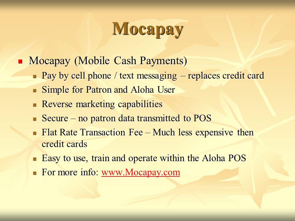 Mocapay Mocapay (Mobile Cash Payments)