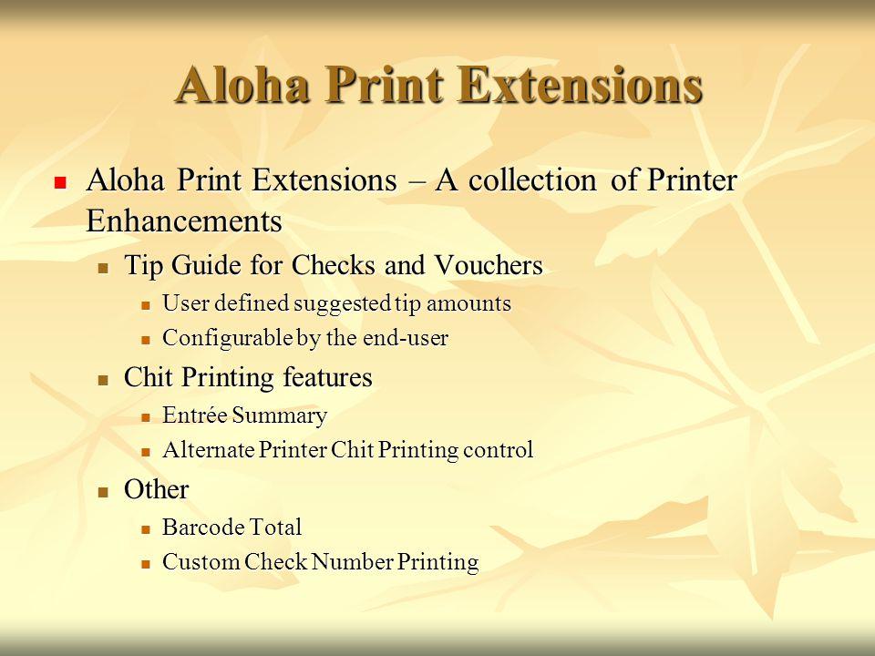 Aloha Print Extensions