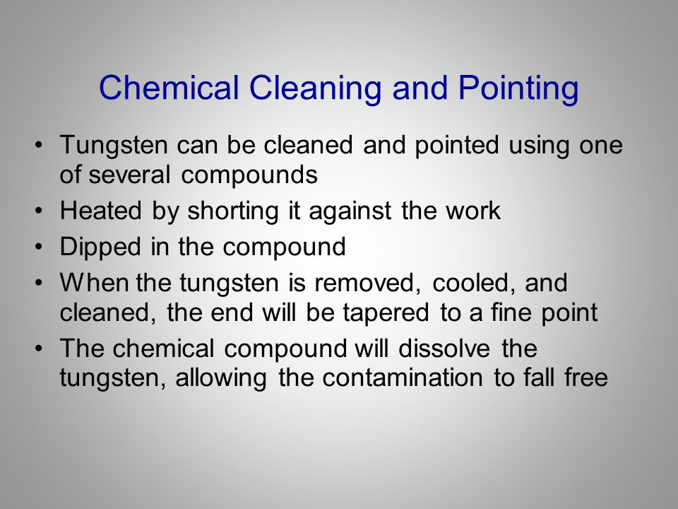 Chemical Cleaning and Pointing
