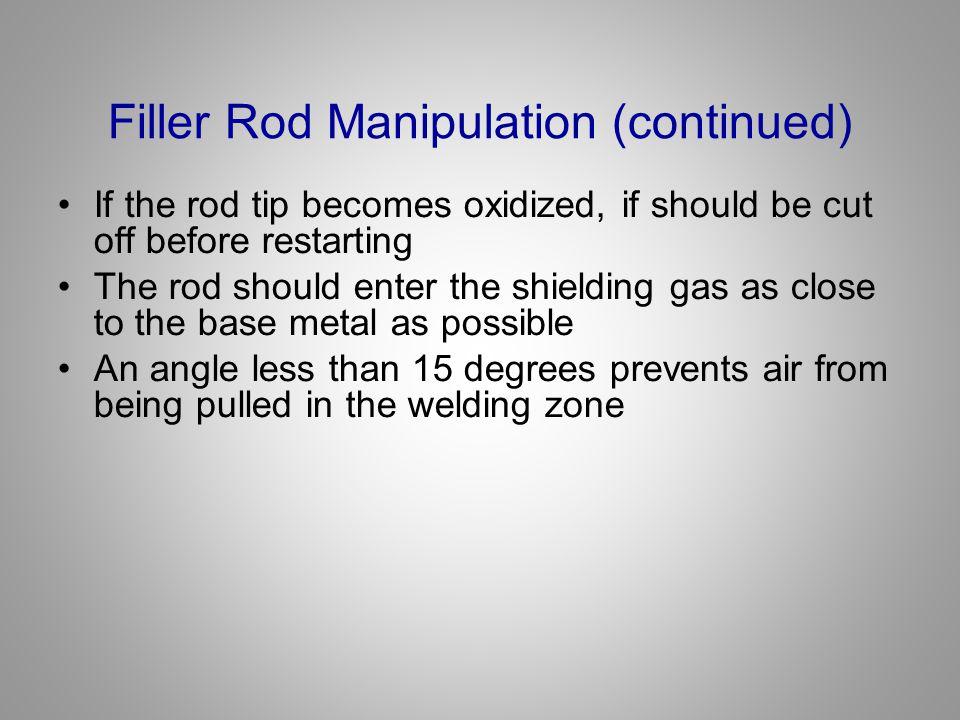 Filler Rod Manipulation (continued)