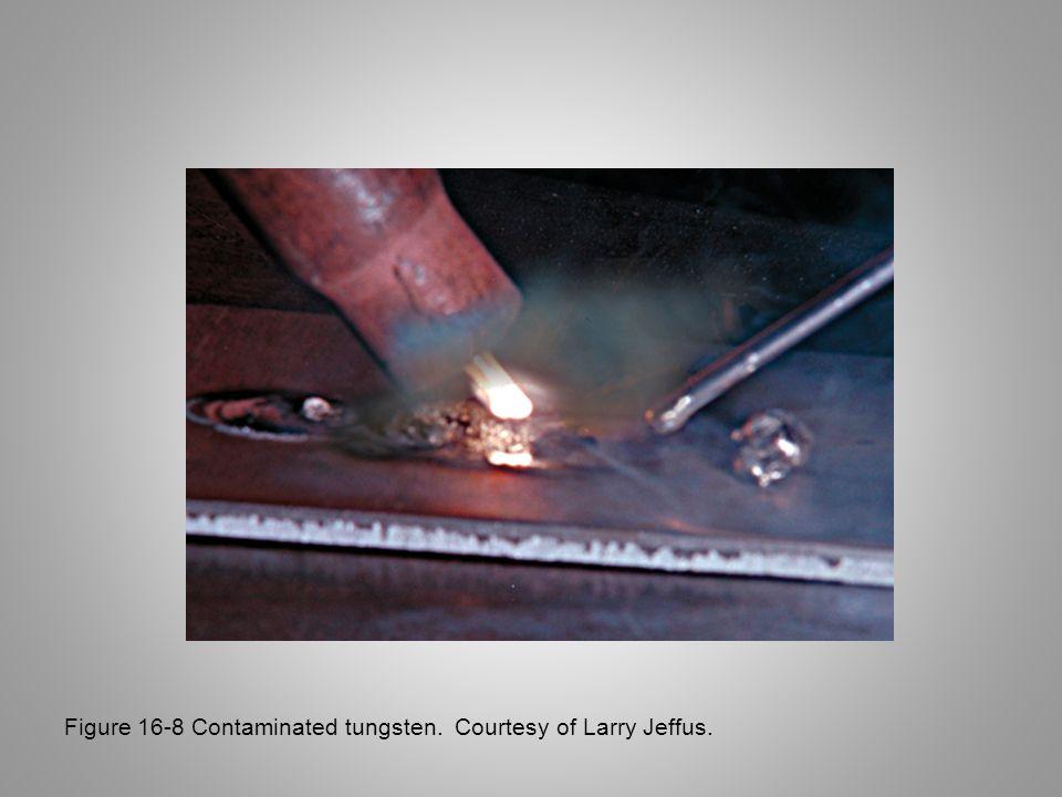 Figure 16-8 Contaminated tungsten. Courtesy of Larry Jeffus.