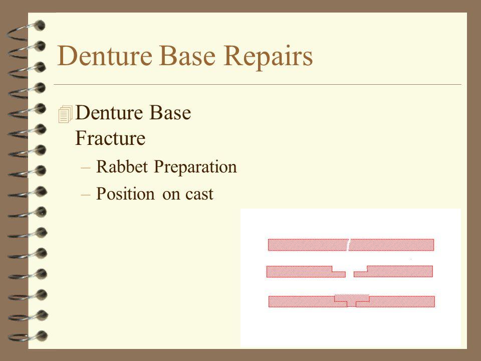 Denture Base Repairs Denture Base Fracture Rabbet Preparation