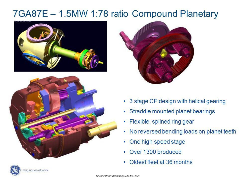 7GA87E – 1.5MW 1:78 ratio Compound Planetary