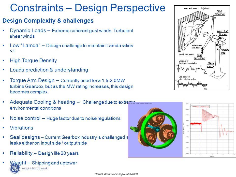 Constraints – Design Perspective