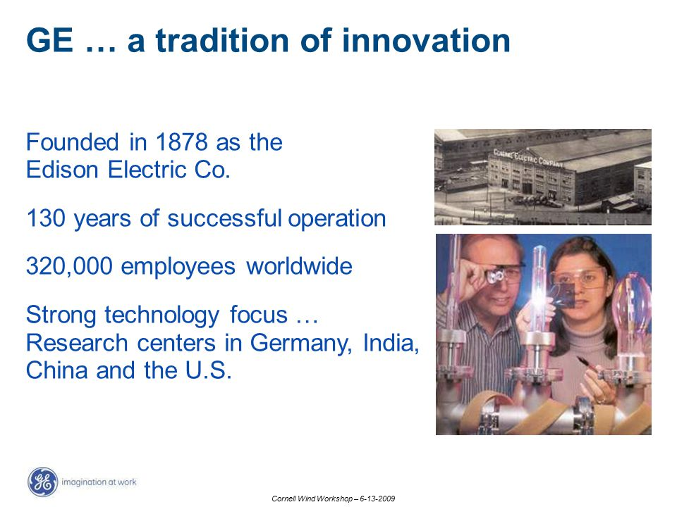 GE … a tradition of innovation