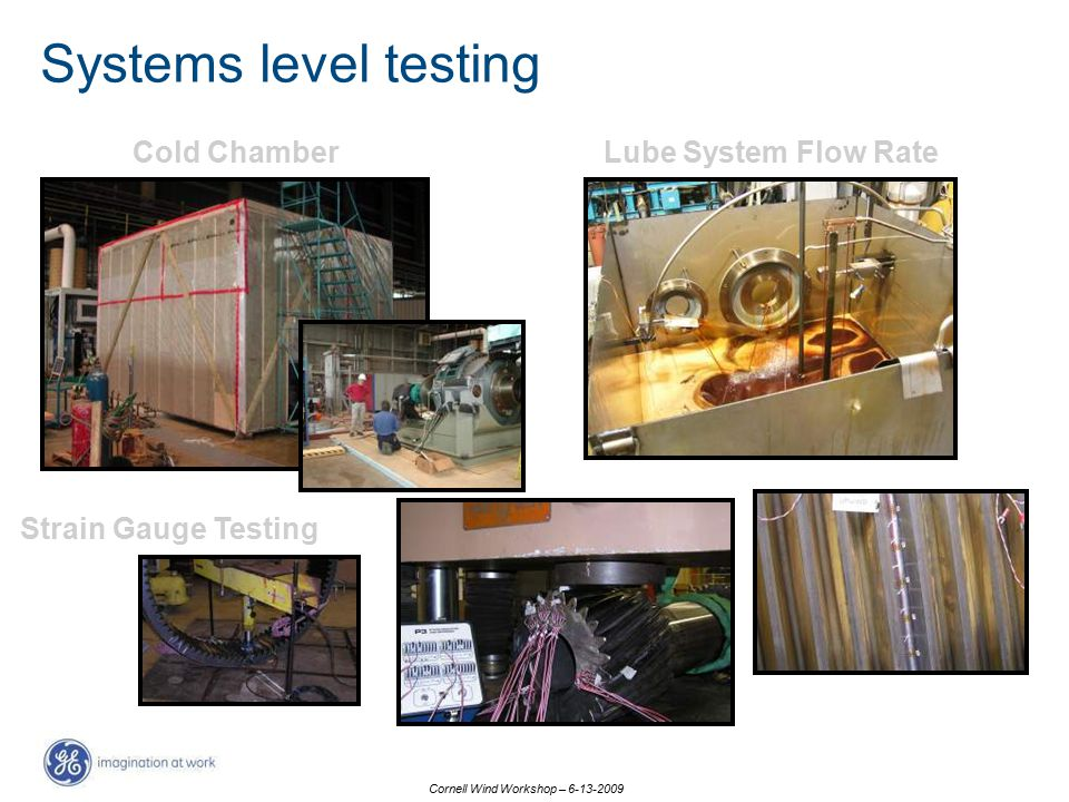 Systems level testing Cold Chamber Lube System Flow Rate