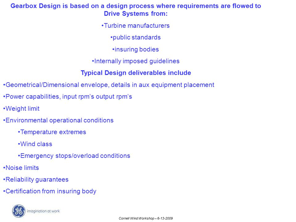 Typical Design deliverables include