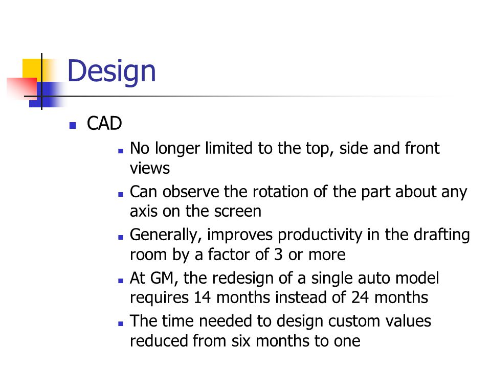 Design CAD No longer limited to the top, side and front views