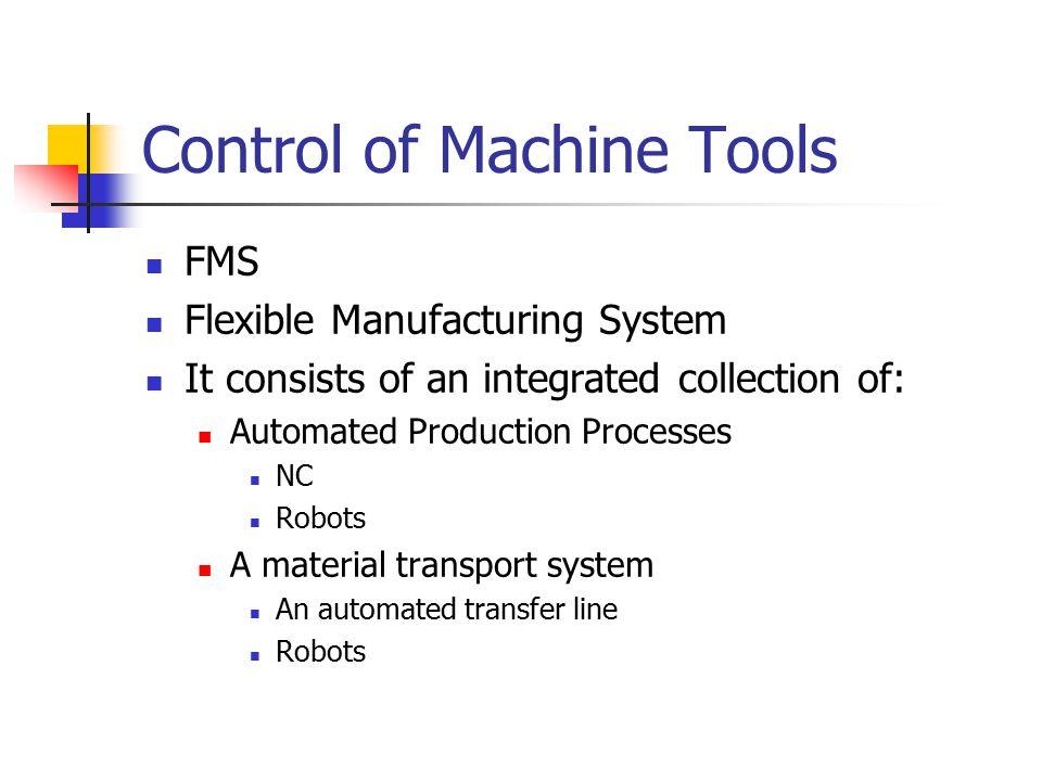 Control of Machine Tools