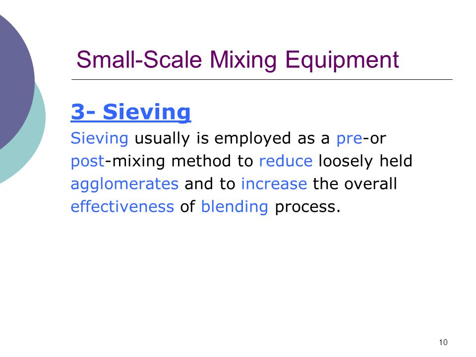 Small-Scale Mixing Equipment