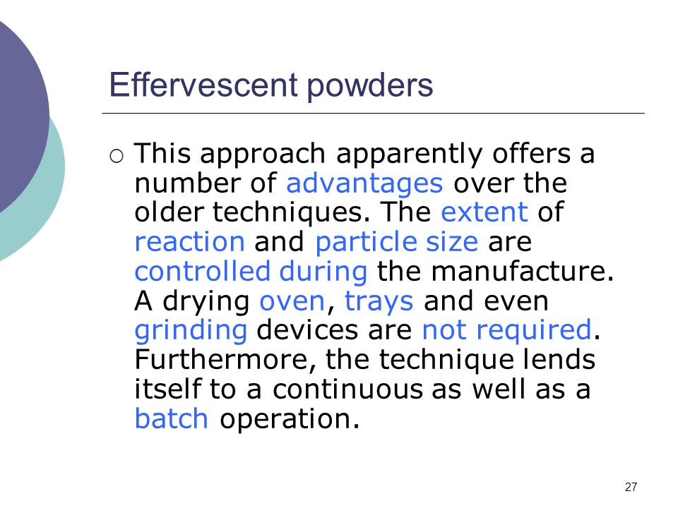Effervescent powders