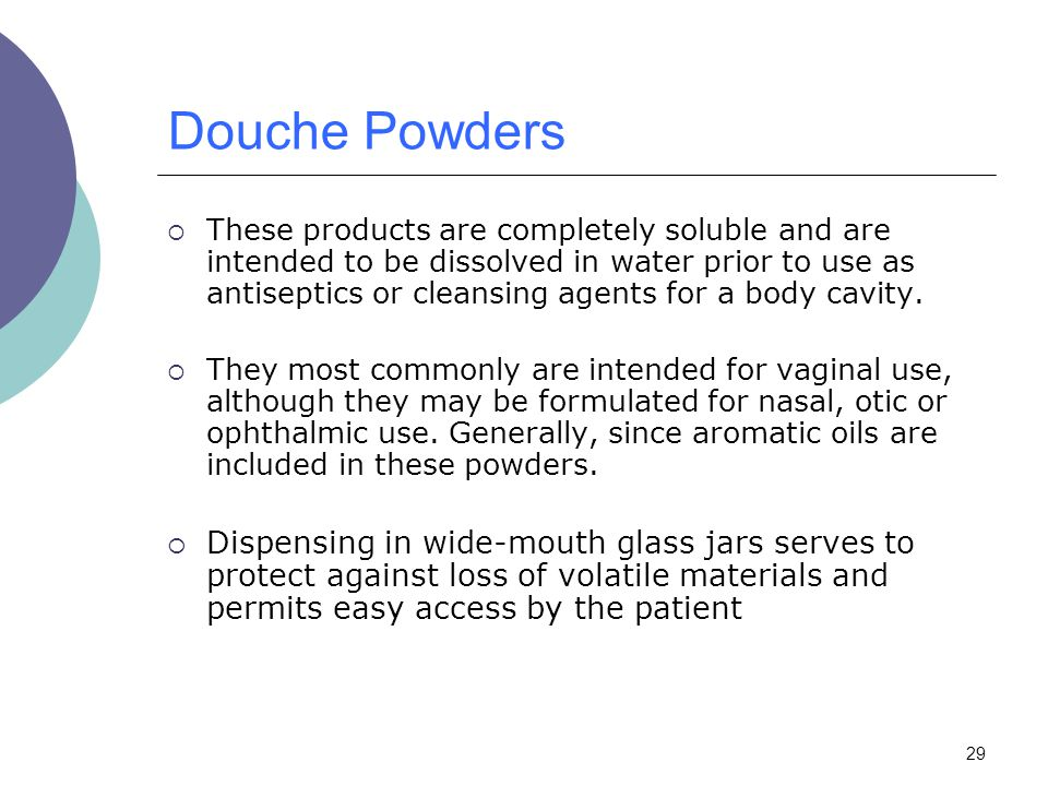 Douche Powders