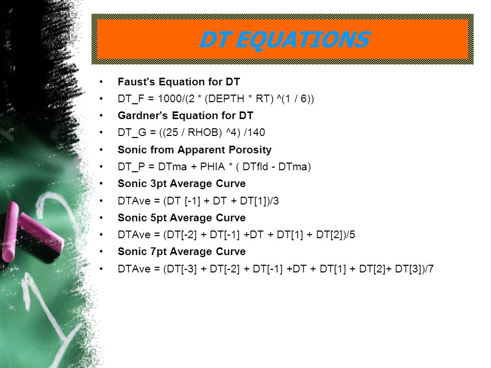 DT EQUATIONS Faust s Equation for DT