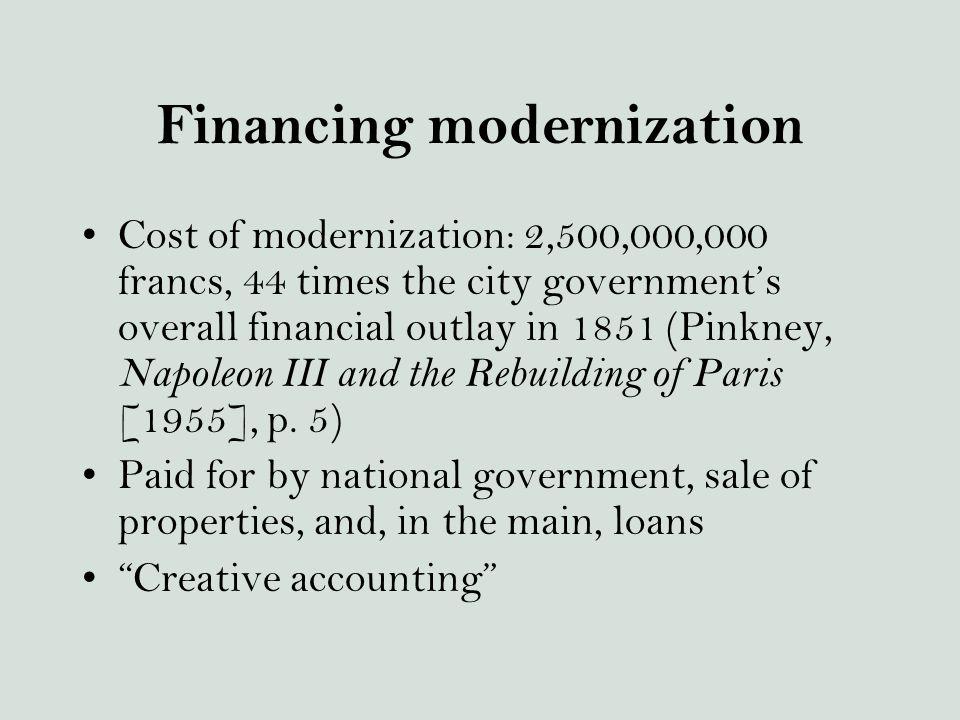 Financing modernization