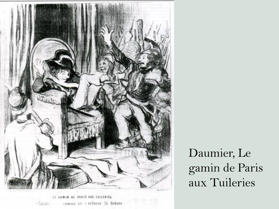 Daumier, Le gamin de Paris aux Tuileries