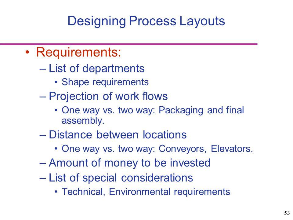 Designing Process Layouts