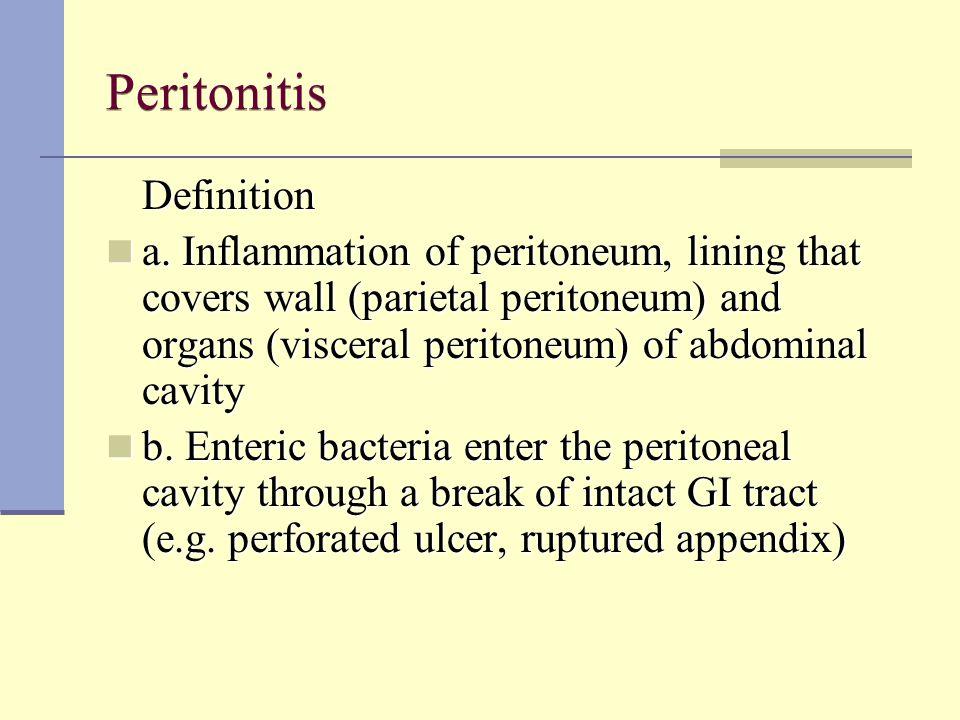 Peritonitis Definition