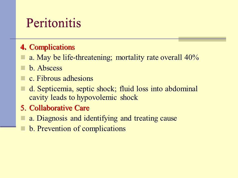 Peritonitis 4. Complications