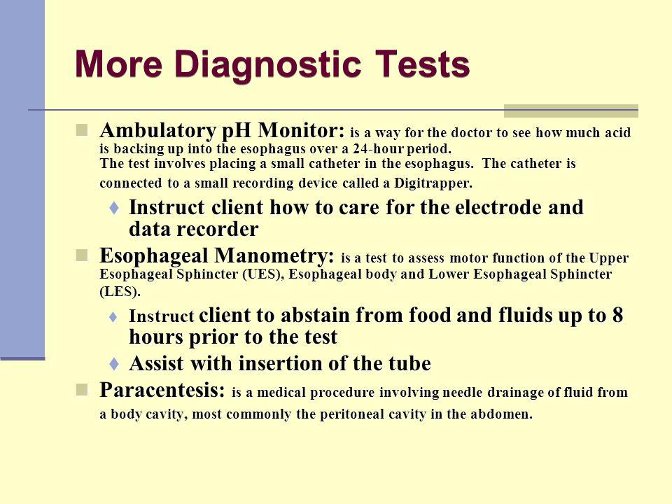More Diagnostic Tests