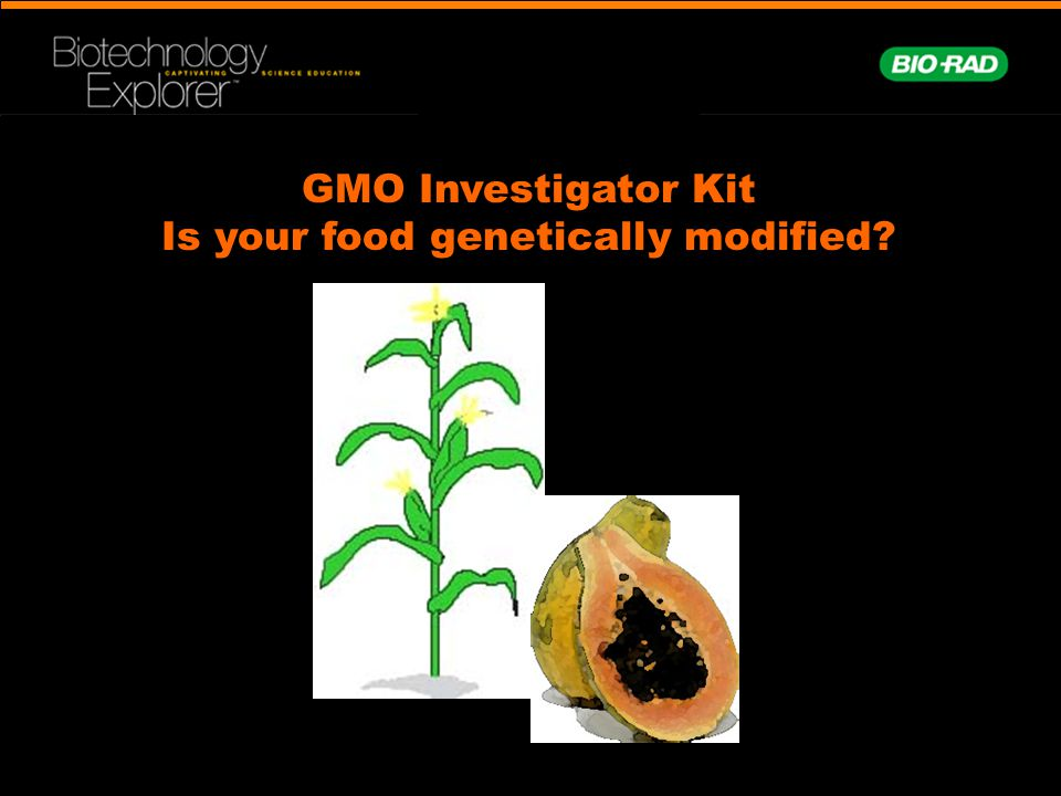 GMO Investigator Kit Is your food genetically modified