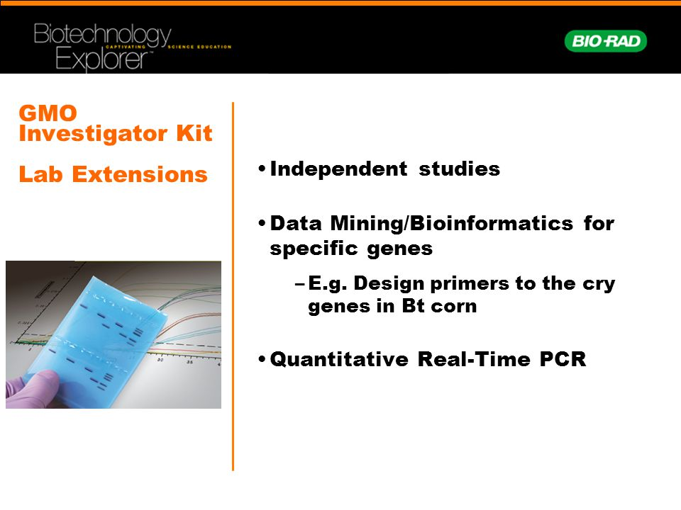 GMO Investigator Kit Lab Extensions