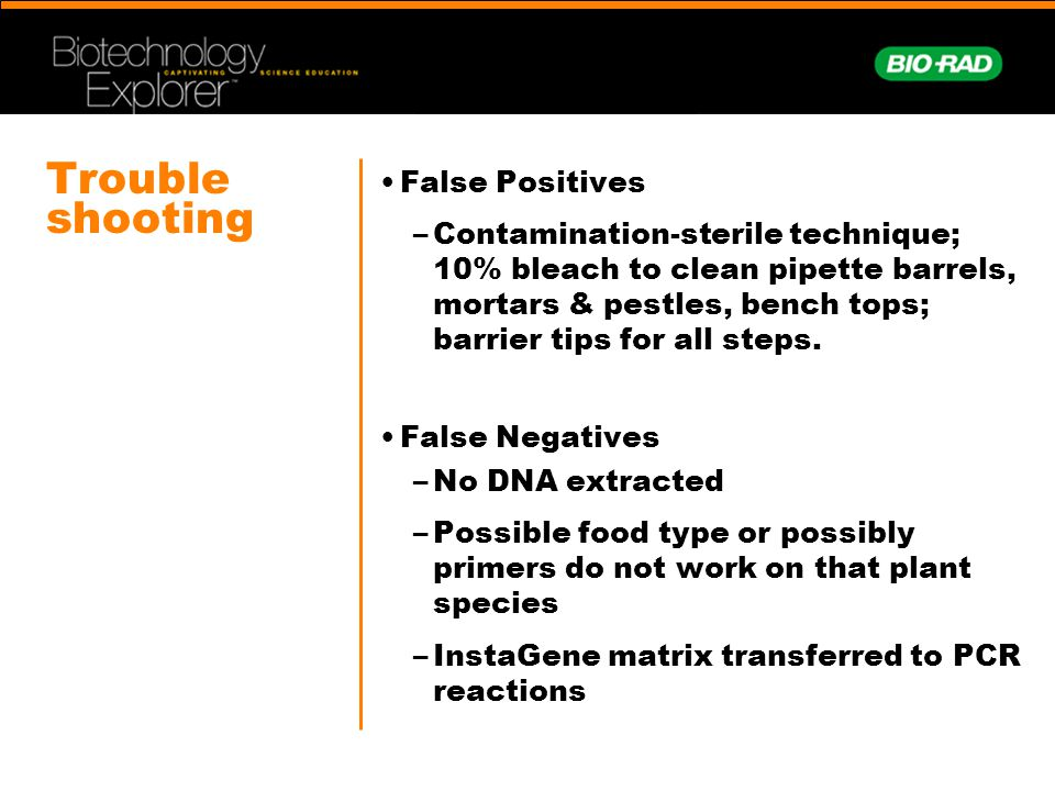 Trouble shooting False Positives