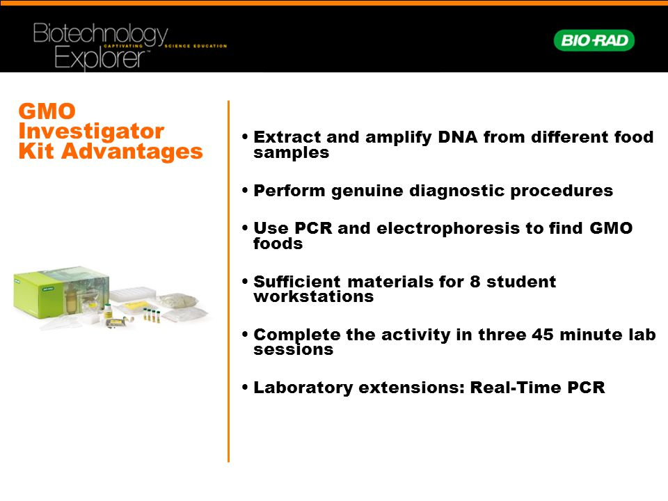 GMO Investigator Kit Advantages