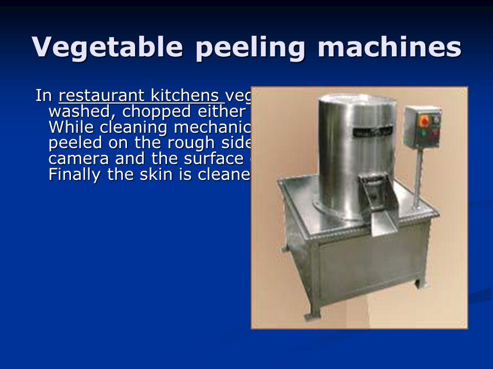 Vegetable peeling machines