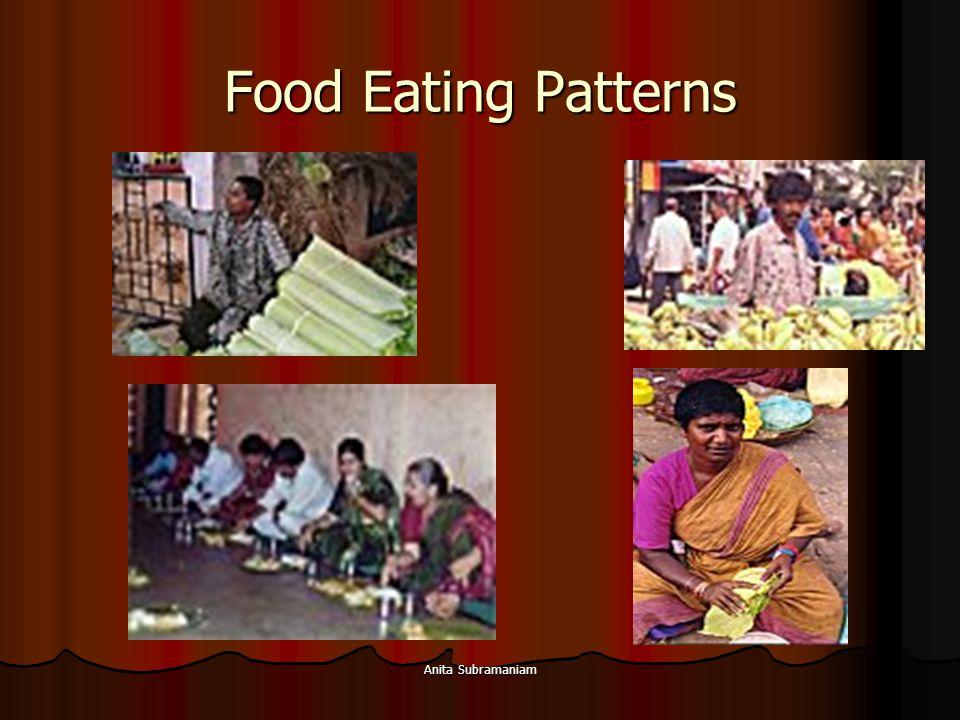 Food Eating Patterns Anita Subramaniam