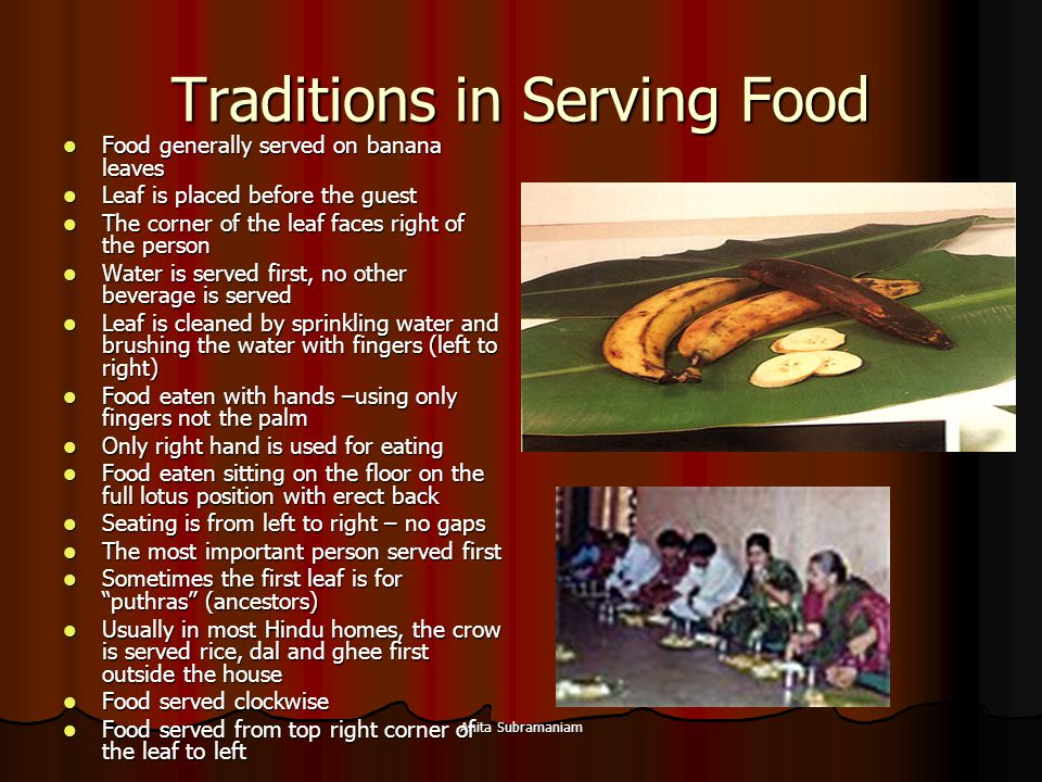 Traditions in Serving Food