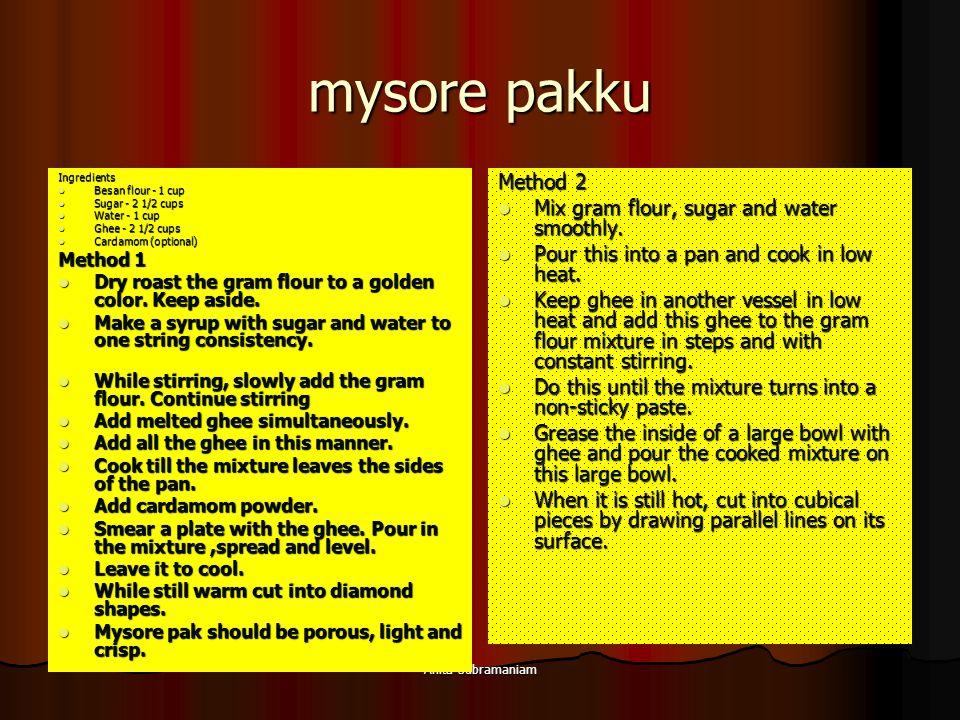 mysore pakku Method 2 Mix gram flour, sugar and water smoothly.