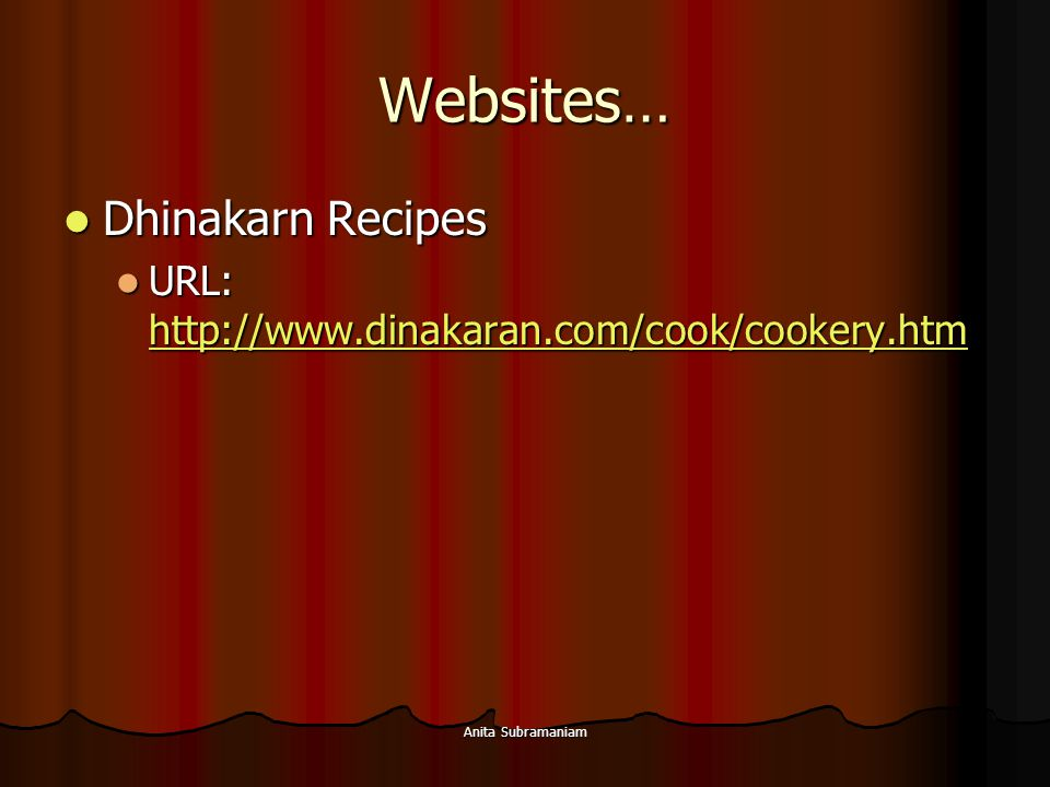 Websites… Dhinakarn Recipes