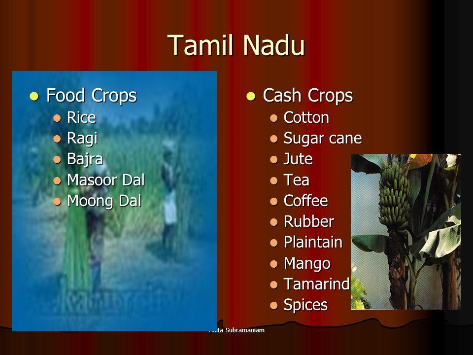 Tamil Nadu Food Crops Cash Crops Rice Ragi Bajra Masoor Dal Moong Dal