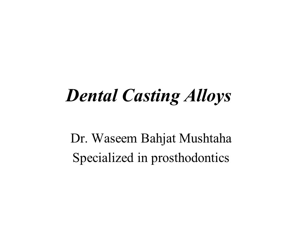Dr. Waseem Bahjat Mushtaha Specialized in prosthodontics