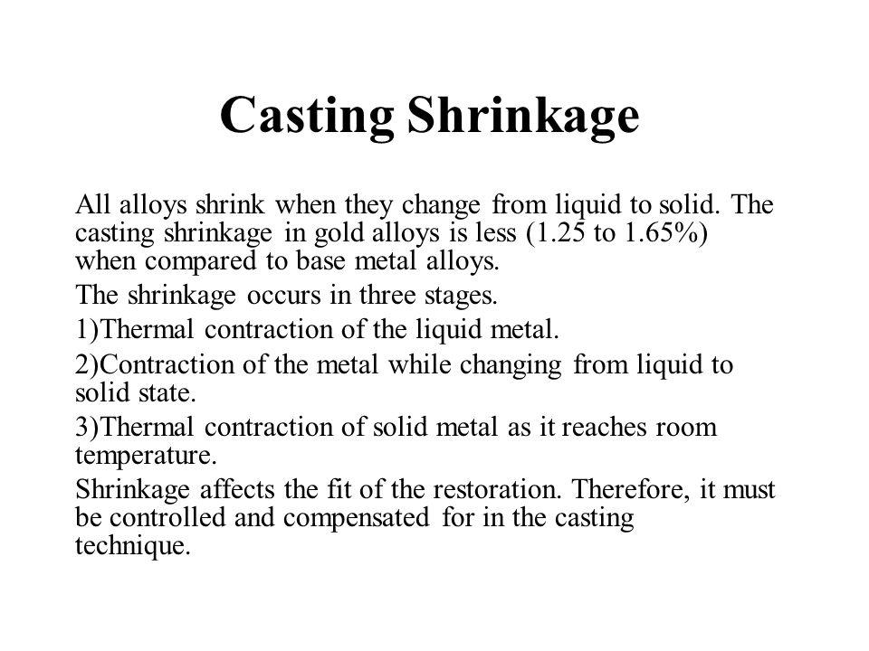 Casting Shrinkage