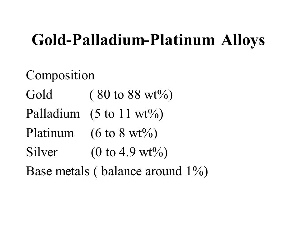 Gold-Palladium-Platinum Alloys
