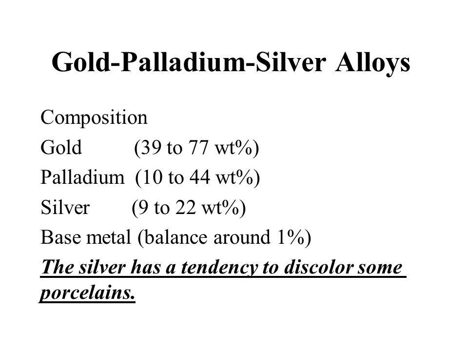 Gold-Palladium-Silver Alloys