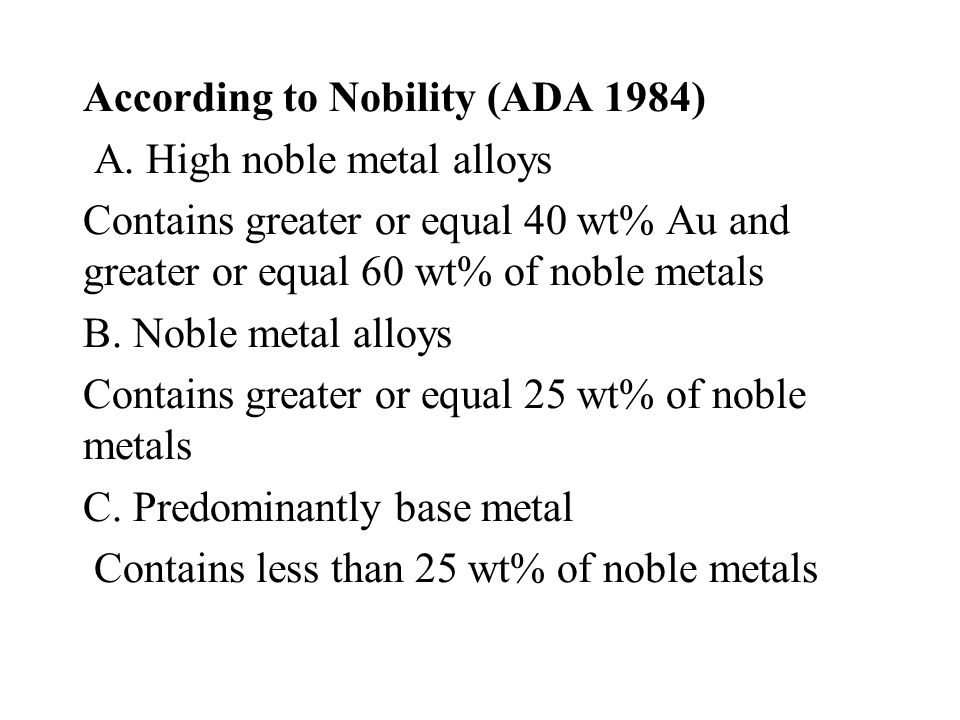 According to Nobility (ADA 1984)